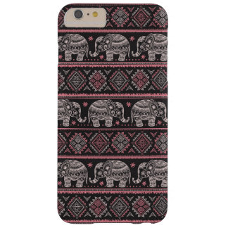 Motif ethnique noir d'éléphant coque barely there iPhone 6 plus