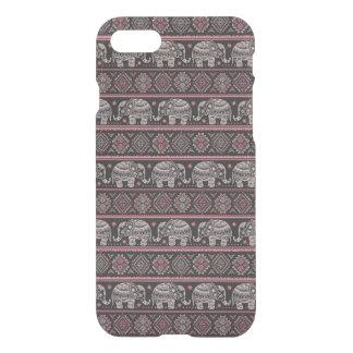 Motif ethnique noir d'éléphant coque iPhone 7