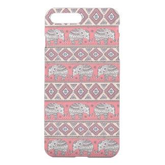 Motif ethnique rose d'éléphant coque iPhone 7 plus