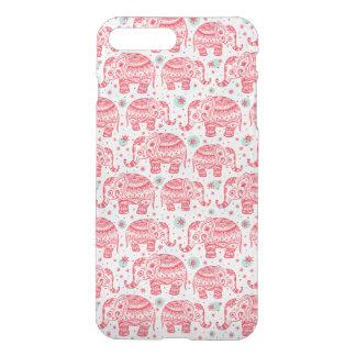 Motif ethnique rouge d'éléphant coque iPhone 7 plus