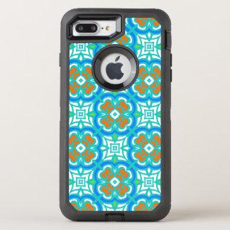 Motif ethnique turquoise coque otterbox defender pour iPhone 7 plus