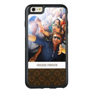 Motif fait sur commande d'abrégé sur Brown de Coque OtterBox iPhone 6 Et 6s Plus