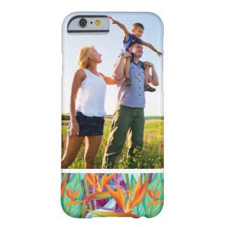 Motif fait sur commande de Strelitzia de photo Coque iPhone 6 Barely There