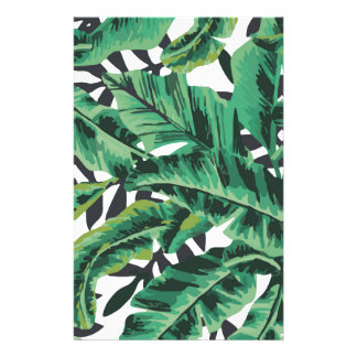 Motif fascinant tropical de feuille de banane papier à lettre