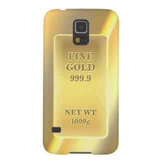 Motif fin brillant de l'or 999,9 décoré d'un protections galaxy s5