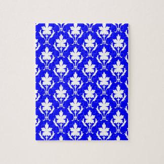 Motif papier peint puzzles motif papier peint puzzles casse t tes - Papier peint bleu fonce ...