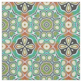 Motif fleuri d'art de chaux de Brown de hanche Tissu