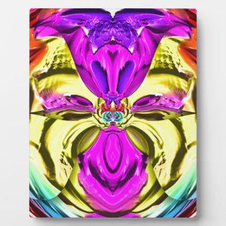 Motif fleurissant frais d'abrégé sur pastel impression sur plaque