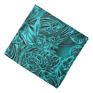 Motif floral abstrait, fleurs de vert vert bandanas