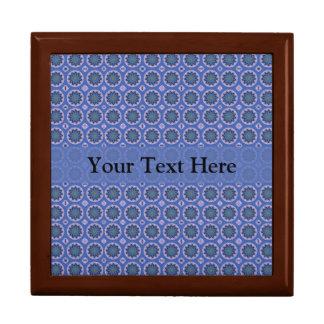 Motif floral assez bleu boîte à souvenirs