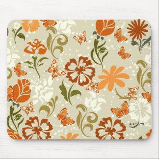 Motif floral assez moderne tapis de souris
