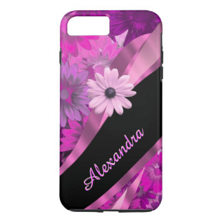 Motif floral assez rose personnalisé coque iPhone 7 plus