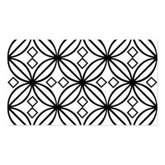 Motif floral blanc noir géométrique cartes de visite professionnelles