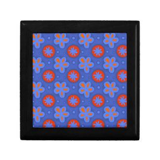 motif floral bleu boîte à souvenirs