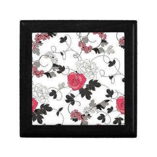 Motif floral boîte à souvenirs
