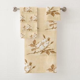 Motif floral botanique de bloc de rose assez blanc