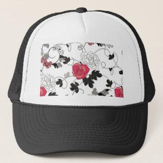Motif floral casquette