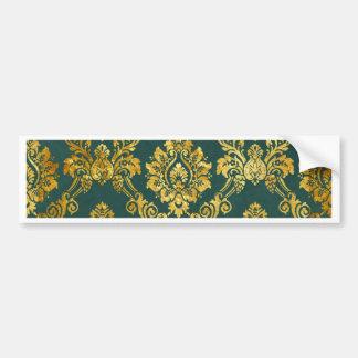 Motif floral d or de damassé autocollant pour voiture