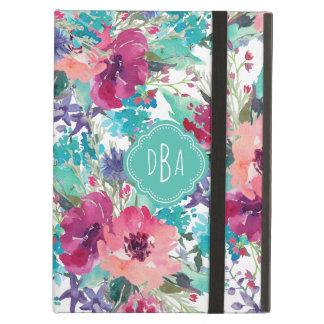 Motif floral d'aquarelle colorée avec le