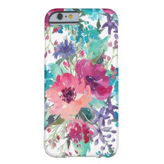 Motif floral d'aquarelle colorée coque iPhone 6 barely there
