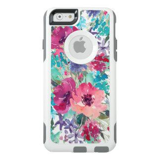 Motif floral d'aquarelle colorée coque OtterBox iPhone 6/6s