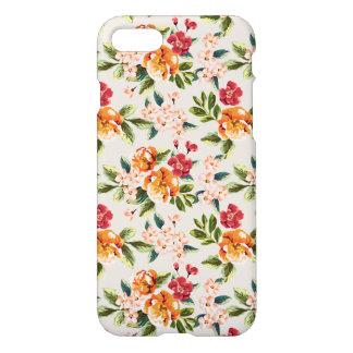 Motif floral d'aquarelle victorienne vintage coque iPhone 7