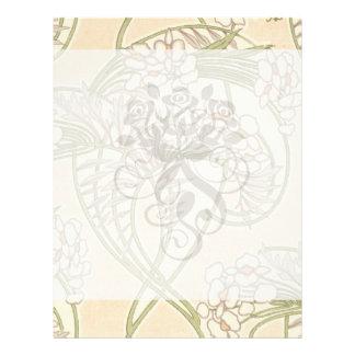 motif floral de beau ressort de nouveau d'art prospectus