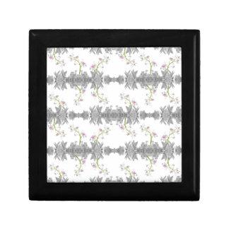 Motif floral de collage boîte à souvenirs