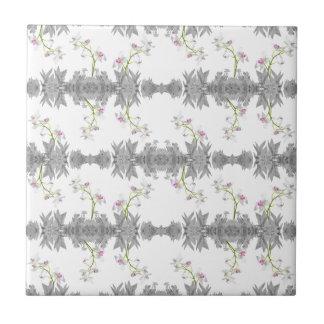 Motif floral de collage carreau