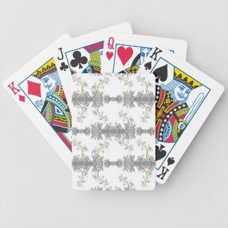 Motif floral de collage jeu de cartes