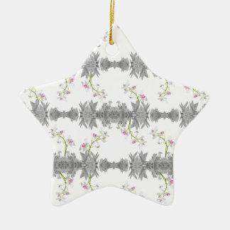 Motif floral de collage ornement étoile en céramique