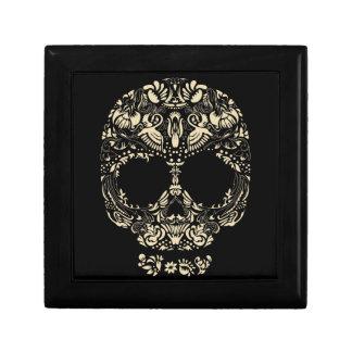 Motif floral de crâne boîte à souvenirs