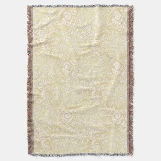 Motif floral de feuille d'or couverture