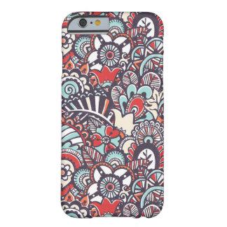 Motif floral de griffonnage de Paisley Coque iPhone 6 Barely There