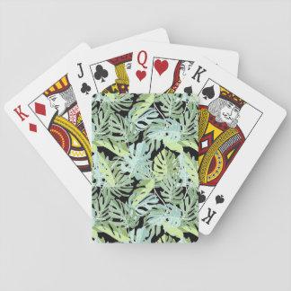 Motif floral de jungle cartes à jouer