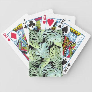 Motif floral de jungle jeu de cartes