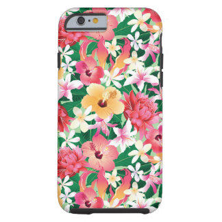 Motif floral de ketmie tropicale coque tough iPhone 6