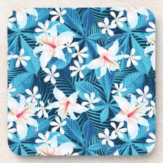 Motif floral de ketmie tropicale sous-bocks
