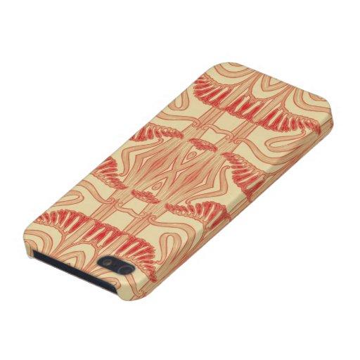 Motif floral de lis - rouge, jaune, orange iPhone 5 case