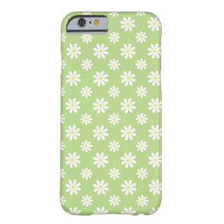 Motif floral de marguerites vertes coque iPhone 6 barely there