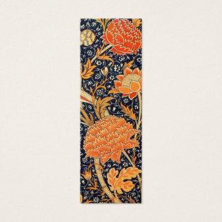 Motif floral de Nouveau d'art de William Morris Mini Carte De Visite