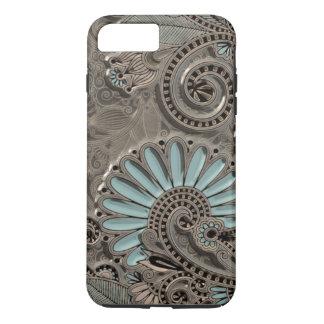Motif floral de Paisley de jolie damassé chic Coque iPhone 7 Plus