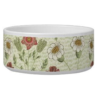 Motif floral de pays vintage gamelles pour chien