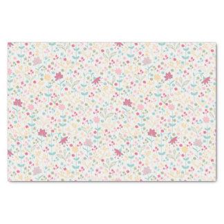 Motif floral de ressort savoureux papier mousseline