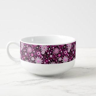 Motif floral de Valentine Mug À Potage