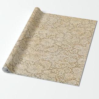 Motif floral de vieille dentelle de crochet + vos papier cadeau