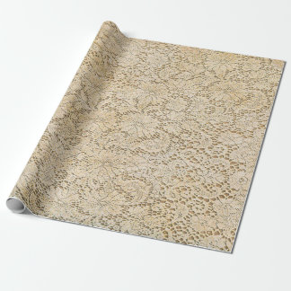Motif floral de vieille dentelle de crochet + vos papiers cadeaux