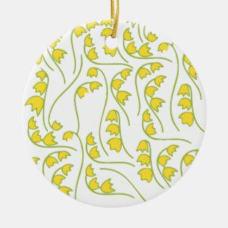 Motif floral du muguet ornement rond en céramique