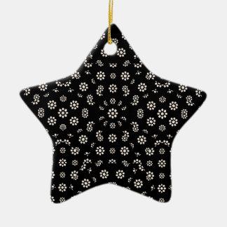 Motif floral écervelé foncé ornement étoile en céramique