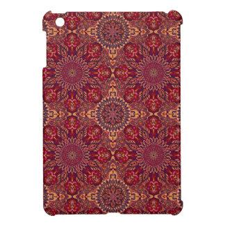 Motif floral ethnique abstrait coloré De de Étui iPad Mini